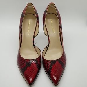 New Marc Fisher Darlina Red Python Pumps
